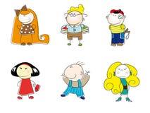 Miúdos engraçados dos desenhos animados do vetor Imagem de Stock