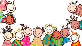 Miúdos felizes Fotografia de Stock Royalty Free