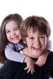 Miúdos felizes fotografia de stock