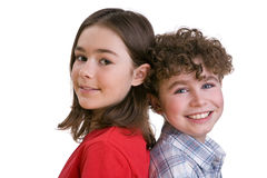 Miúdos felizes Fotos de Stock Royalty Free