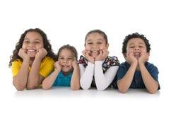 Miúdos felizes adoráveis Fotografia de Stock