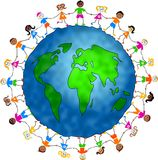 Miúdos globais Foto de Stock Royalty Free