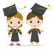 Miúdos graduados Foto de Stock Royalty Free