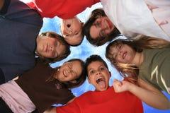 Miúdos loucos felizes Fotos de Stock