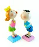 Miúdos. menino e menina Imagens de Stock