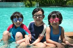 Miúdos na associação Fotos de Stock Royalty Free
