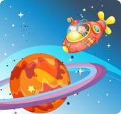 Miúdos na nave espacial Fotos de Stock