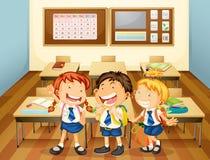 Miúdos na sala de aula ilustração do vetor