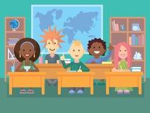 Miúdos na sala de aula ilustração royalty free