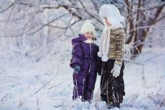 Miúdos no inverno Imagem de Stock Royalty Free