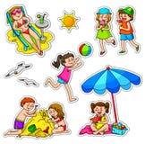 Miúdos no verão Foto de Stock