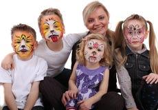 Miúdos pintados estilista Fotografia de Stock Royalty Free