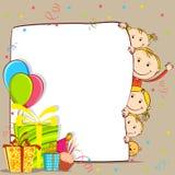 Miúdos que comemoram o aniversário Fotografia de Stock
