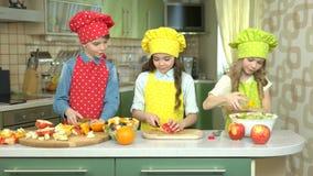 Miúdos que fazem a salada vídeos de arquivo