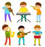 Miúdos que jogam a música Fotografia de Stock