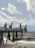 Miúdos que jogam na praia Foto de Stock Royalty Free