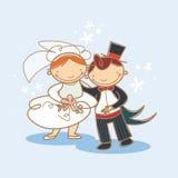 Miúdos que wedding ilustração stock
