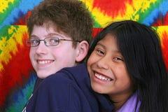 Miúdos sobre cores Imagens de Stock