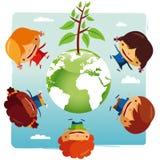 Miúdos verdes do planeta ilustração do vetor