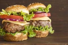 Mięśni hamburgery fotografia stock
