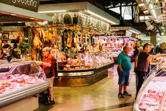 Mięśni produkty Dla sprzedaży W Santa Catarina rynku Barcelona miasto Zdjęcia Royalty Free