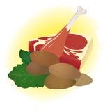 mięśni surowi warzywa Zdjęcie Stock