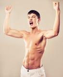 Mięśniowy mężczyzna Obraz Royalty Free