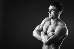 Mięśniowy mężczyzna bodybuilder Obraz Stock