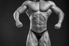 Mięśniowy mężczyzna bodybuilder Obrazy Stock