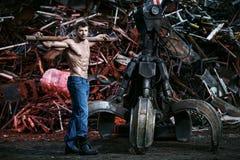 Mięśniowy mężczyzna działanie Fotografia Royalty Free