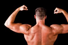 Mięśniowy bodybuilder plecy Fotografia Royalty Free