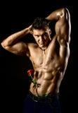 Mięśniowy seksowny facet Zdjęcie Royalty Free