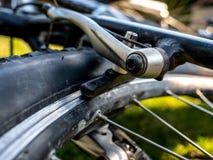Międlenie system przy roweru górskiego zakończeniem up zdjęcie stock