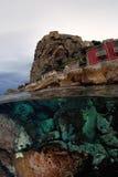 Między ziemią i morzem Fotografia Royalty Free