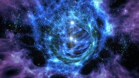 Międzygwiazdowa wormhole podróż ilustracja wektor