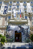 międzykontynentalny Carlton Cannes hotelu wejście Zdjęcie Royalty Free