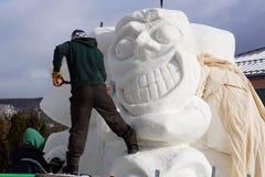 Międzynarodowa Śnieżnej rzeźby rywalizacja zdjęcia royalty free
