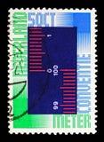 Międzynarodowa Metre konwencja, seria, około 1975 obraz stock