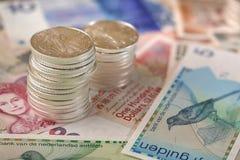 Międzynarodowa waluta i chodzący libery srebro Zdjęcie Stock