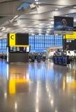Międzynarodowa wyjściowa sala Wnętrze Heathrow lotniskowy Terminal 5 zbudować nowy Zdjęcie Royalty Free