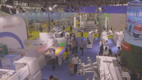 Międzynarodowa wystawa, Chiny 2019 Wystawa nowożytni maszynowi narzędzia i przemysłowe technologie zbiory wideo