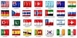Międzynarodowe flaga Zdjęcia Royalty Free