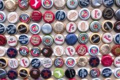 Międzynarodowe piwo nakrętki Obrazy Stock