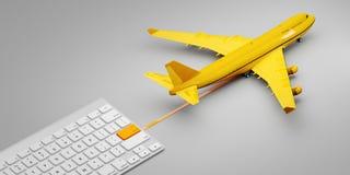 Międzynarodowego poczta poczta ekspresowego avia lotnicza doręczeniowa usługa Pojęcie jeden stuknięcie dostawa ilustracja 3 d ilustracji