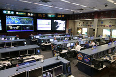 Międzynarodowej Staci Kosmicznej kontrola misji centrum obrazy royalty free