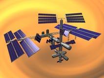 międzynarodowej stacji kosmicznej zdjęcie stock