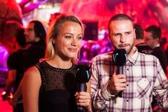 Międzynarodowi dziennikarzi żyją transmitowanie od E3 2014 Obraz Royalty Free