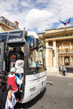 międzynarodowi turyści w Paryż, Francja Fotografia Royalty Free