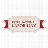 Międzynarodowy święto pracy papieru bielu sztandar Zdjęcie Royalty Free