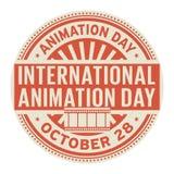 Międzynarodowy animacja dzień, Październik 28 ilustracja wektor